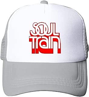 Gujigur Adult Unisex Fashion Soul Train Red Logo Fashion Hip Hop Printed Basketball Cap Snapback Hat