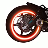 customTAYLOR33 (All Vehicles Red High Intensity Grade Reflective Copyrighted Safety Rim Tapes (Must Select Your Rim Size), 17' (Rim Size for Most SportsBikes)