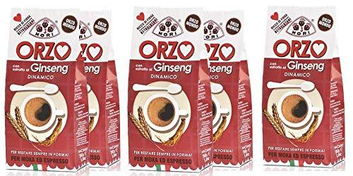 Tre Mori 6 x ORZO al Ginseng 250 gr. - Ginseng - Ginseng Ginseng Moka - Ginseng Espresso - Ginseng d\'orzo