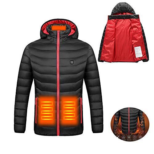 Chaqueta con Calefacción, Chaquetas de algodón Gruesas de Invierno con calefacción de Invierno Cazadoras Impermeables al Aire Libre Senderismo Camping Trekking Escalada en Roca Abrigos de esquí