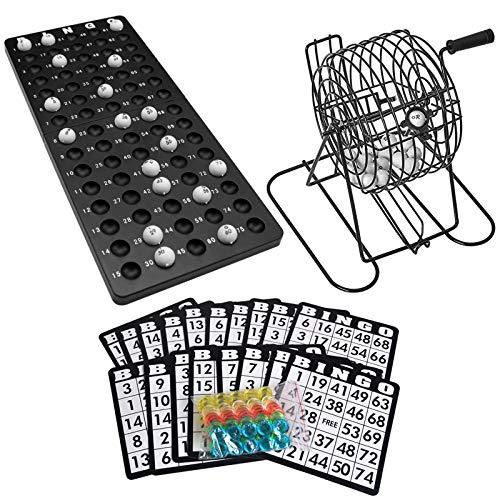 Juego de Bingo,Roeam Bingo Lotto Numbers Machine Game Party para Familia, Amigos, Entretenimiento
