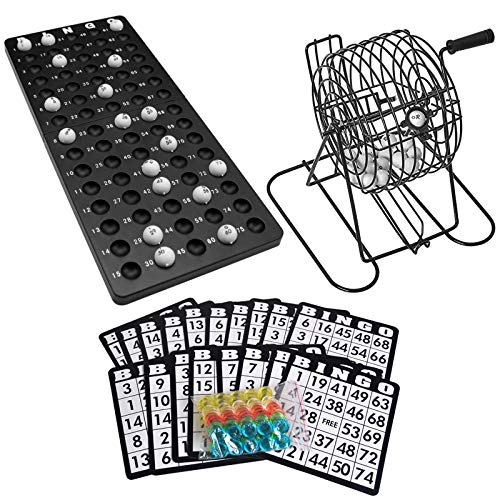 Lixada Bingo Juego de Mesa con Jaula de Bingo Tablero de Bingo...