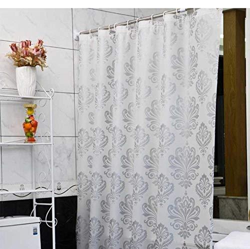 YUNZHIFU Cortinas De Ducha Cortina De Ducha Tela De Plástico Pantalla De Baño Flores Geométricas Impresión Cortinas De Baño Ecológicas 80X180Cm