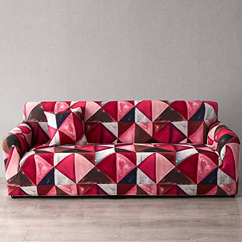 ASCV Funda de sofá Europea con Estampado Floral Fundas de sofá para Sala de Estar Sofá Toalla Funda de Muebles Sillón Funda de sofá A3 1 Plaza