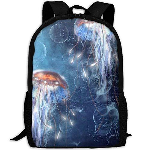Nieuwe Unisex oplichtende kwallen reizen 3D Print rugzak College School Laptop Bag Daypack reizen schoudertas voor Unisex