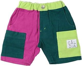 【子供服】 Caldia (カルディア) コール天バイカラー5分丈パンツ 80cm~140cm A31143