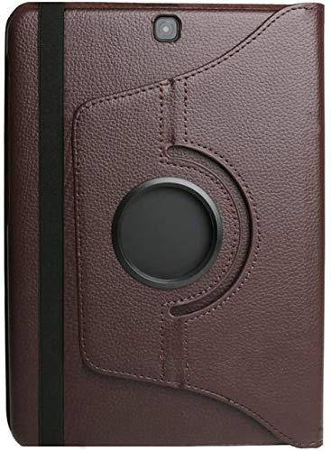 Hannuo Estuche para Samsung Galaxy Tab S2 9.7 Pulgadas Tablet PC Soporte Cubierta T810 T813 T815 T819 SM-T810 SM-T813 SM-T815 Funda Fundas-marrón_Tab S2 9.7 T810