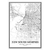 USA New South Memphis Schwarz-Weiß minimalistische Kunst