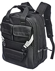 AmazonBasics Tool Bag Backpack, 50 Pocket - Adjustable Pouch Front, Black