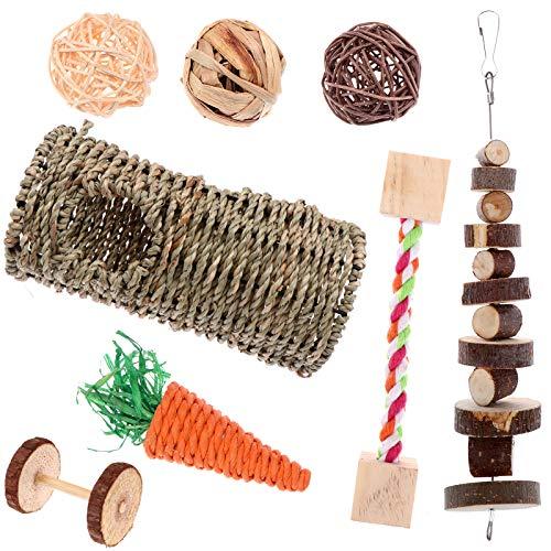 FADACAI 8 Pieces Rabbit Chew Toys, Bunny Tooth Chew Toys, Small Animals...
