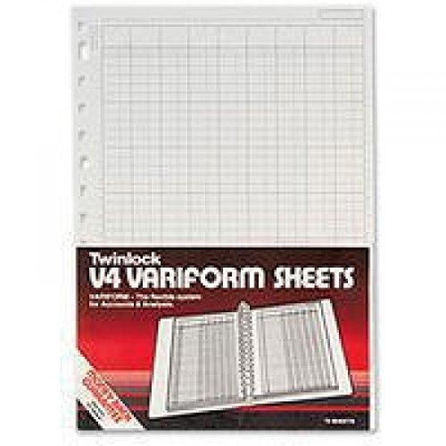 Rexel Twinlock V4 Variform - Hojas de contabilidad de 14 columnas (75 unidades)