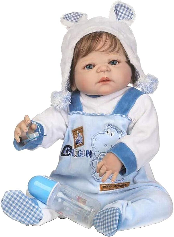 Huafi Reborn Baby Dolls 40cm Silicon Lifelike Baby Doll Panda Clothes Simulation Dolls Newborn Lifelike Smiling Boy Birthday Gift Bathe Toy