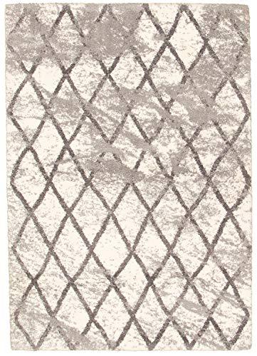 eCarpetGallery Loft Area Rug, 8 x 10, Cream/Grey