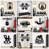 Motivational Gym Aufkleber Boxing Club Wallpaper Power Vinyl Wandaufkleber für Fitnesss Aufkleber Dekor Kunst Aufkleber