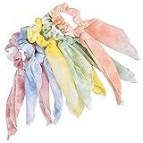 5 coleteros para el pelo, lazos de chifón para el pelo, bandas elásticas para el pelo, cuerdas para mujeres o niñas, accesorios para el cabello