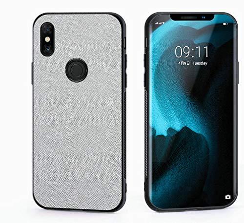 Kepuch Taiga Case Capas TPU PU-Couro para Xiaomi Mi Mix 3 - Prata
