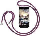 GoodcAcy Funda con Cuerda para Samsung Galaxy M40 Pantalla en Cristal Templado-Carcasa Transparente de TPU-con Cordon para Llevar en el Cuello