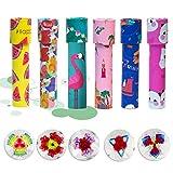 OSOPOLA Kaleidoscope Toy - Paper Tumble Wheel Magic Tin Tube Prism Lens - Educational Toy/Birthday Present/Party Favor for Kids 6Pcs(Random Delivery)