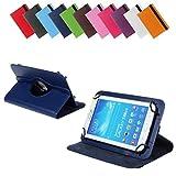 BRALEXX Universal 360° Tablet Tasche passend für i-onik TM3 Serie 1 7 Zoll, 7 Zoll, Blau