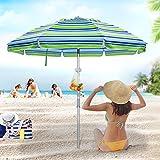 Best Umbrellas For Beach - Deyard 6.5ft Beach Umbrella with Sand Anchor, Tilt Review