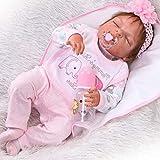 ZIYIUI 23' 58cm Reborn Bebé Silicona Vinilo niña muñeca más Popular Preferido Regalo Muñecas