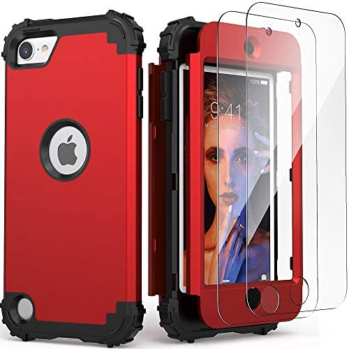 iPod Touch 7th Generation Case with 2 Screen Protectors IDweel Hybrid 3 in 1 Shockproof Slim product image