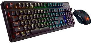 كيبورد إحترافى مخصص للالعاب نصف-ميكانيكال بنظام ذكى و إضاءة خلفية -أسواد GX Scorpion-K10