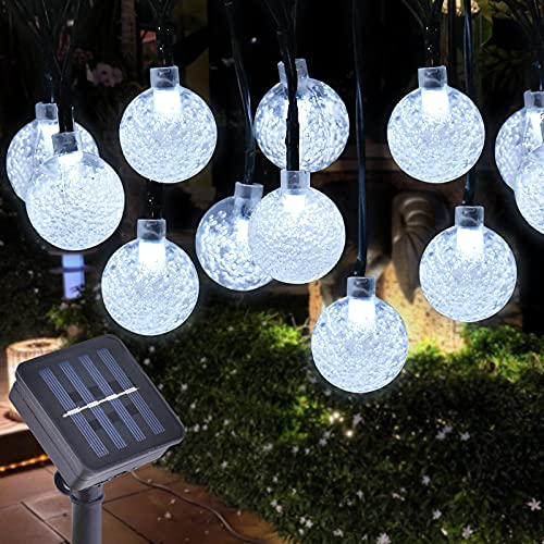 Gresonic Globe String Lights,30L LEDs Crystal Ball Fairy Lights,Waterproof Decoractive for Home, Party, Patio, Garden, Yard, Christmas, Wedding, Festival (Cold White)
