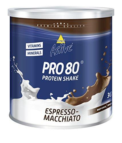Inkospor Active Pro 80 Protein Shake, Espresso-Macchiato, 750g Dose