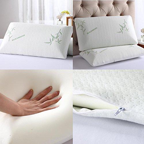 Dickens Betten Bambus Luxus Memory Foam Kissen, antibakteriell Premium Support Kissen, 1 Pillow
