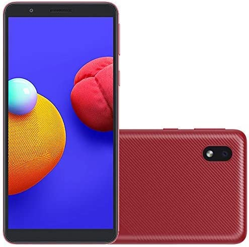 "Samsung Galaxy A01 Core (16GB) 5.3"", 3000mAh Battery, Android 10, Dual SIM GSM Unlocked Global 4G LTE (T-Mobile, AT&T, Metro, Straight Talk) International Model A013M/DS (64GB SD Bundle, Red)"