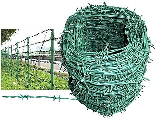 Mallas de alambre Malla de alambre galvanizado Alambre de espino CLORURO DE POLIVINILO El recubrimiento verde se utiliza para proteger el huerto de jardines y el campo vegetal, y también puede elevar