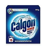 Calgon 3-in-1 Power Pulver – Wasserenthärter gegen Kalkablagerungen und Schmutz in der Waschmaschine – Beugt unangenehmen Gerüchen vor – 1 x 500 g