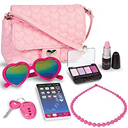PixieCrush Pretend Play Purse & Makeup for Girls