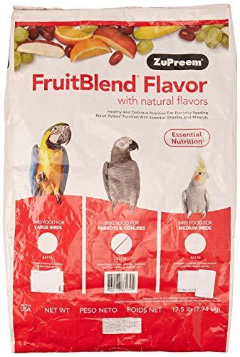 ZuPreem FruitBlend - Alimento para Aves, Pienso Loros, Multifrutas, 7.87 kg