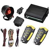Sistema de Alarma para Coche, Alarma de Coche, Universal12 V con 2 Controles remotos y Sensor de Sirena Bloqueo, desbloqueo automático de Puertas y liberación del Maletero