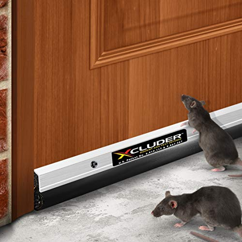 "Xcluder 162602 Commercial Pest Control Door Sweep, 36"" Aluminum Guaranteed to Stop Mice and Rats"