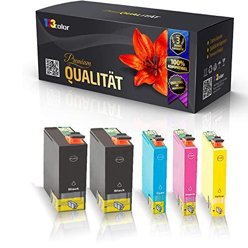 5x Alternative Tintenpatronen für Epson Stylus Office B42WD BX525WD BX535WD BX625FWD BX630FW Schwarz Cyan Magenta Yellow C13 T1301 T1302 T1303 T1304 Sparpack Eco Office Serie