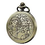Morfong quarzo Orologio da tasca medico Dr. Who Confession orologio modello ideale per uomo o donna con catena box