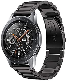 Aimtel für Samsung Galaxy Uhr(46mm) Uhrenarmband, 22mm Solid Edelstahl Metall Ersatz Armband Strap Band für Samsung Galaxy SM R800/R805 Uhr(Schwarz)