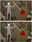 Glow Dark Edward Teach Blackbeard Piratenflagge Patch – Taktische Militär-Abzeichen dekorative Applikationen – Klettverschluss auf der Rückseite (d)