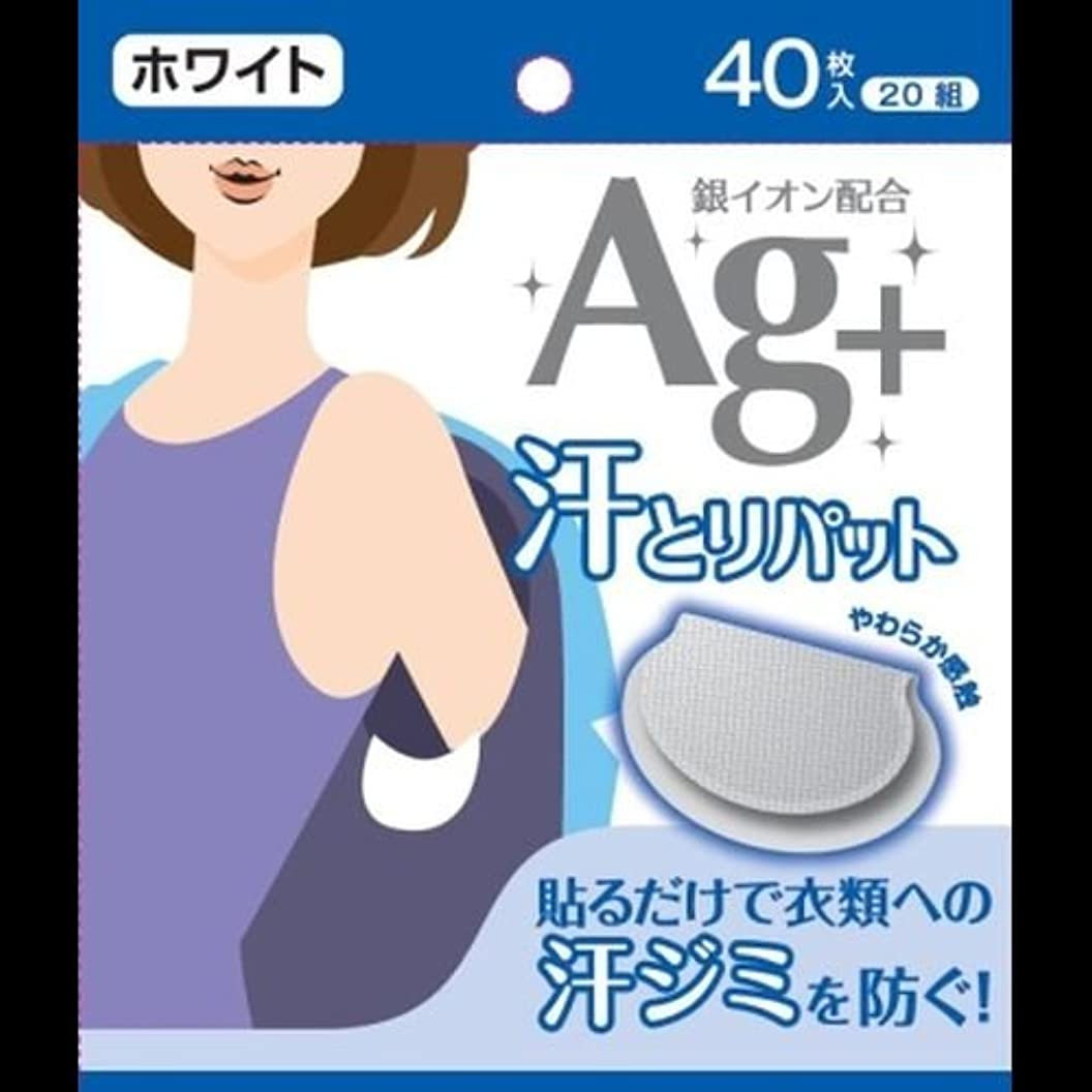 リレー符号プレビスサイトAg+汗とりパット ホワイト 40枚入(20組) ×2セット