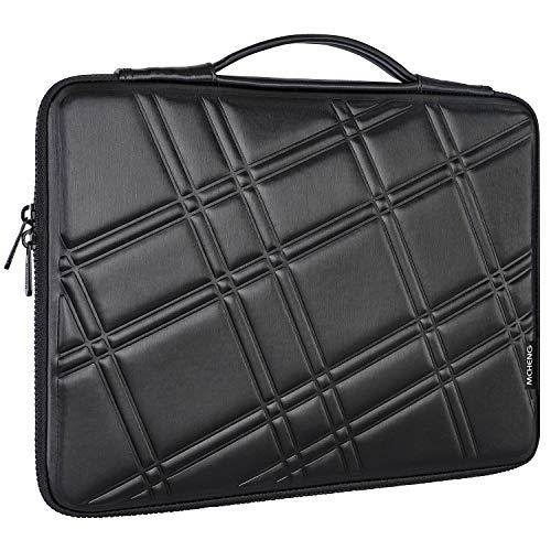 MCHENG 15-15,6 Zoll Laptop-Schutzhülle, Tasche Netbook Ultrabook Tasche mit Griff für Apple Microsoft Huawei Dell HP Lenovo Acer Asus Samsung Toshiba Fujitsu, Schwarz