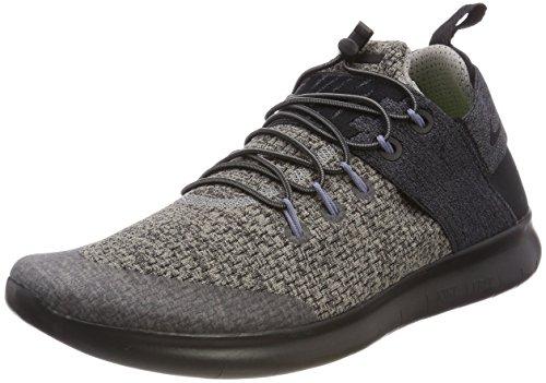 Nike Women's W Free Rn CMTR 2017 Prem Running Shoes, Grey (Cobblestone/Black 001), 3.5 UK 36.5 EU