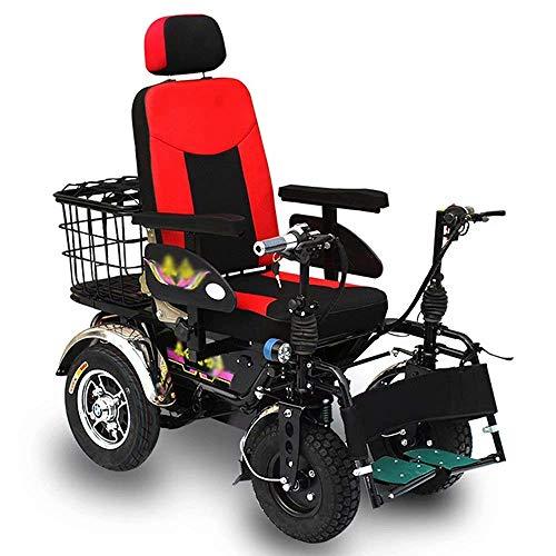 ZHANGYY Rollstuhl Carbon Stahlrahmen Elektrischer, fahrradartiger intelligenter Bedienungsgriff, 20A Lithiumbatterie mit großer Kapazität kann 90 km Fahren