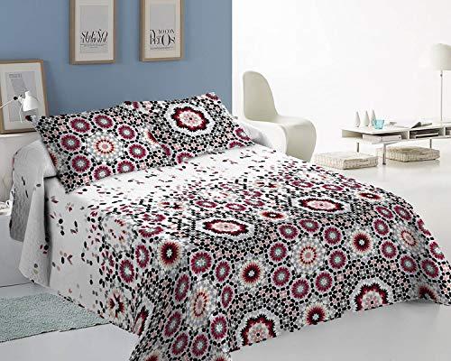 ForenTex Colchas Oslo Cama 135 Reversible Decorativa Estampado con Relleno Ligero para Verano y Entretiempo, 3