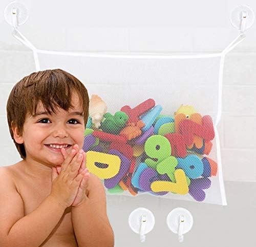 Bath Toy Holder Organizer Extra Durable Washable Bath Toy Storage Mesh Bath Toy Organizer for product image