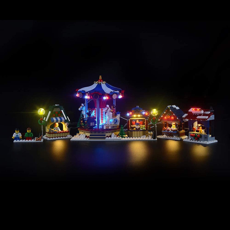 LIGHTAILING Set di Luci per (Creator Winter Village Market) modellolo da Costruire - Kit Luce LED Compatibile con Lego 10235(Non Incluso nel modellolo)