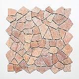 Rossoverona MOS44-30-140 - Azulejos de mosaico de mármol y...