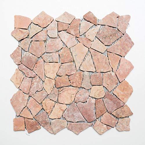 Azulejos de mosaico de mármol y piedra natural rota Ciot Rossoverona MOS44-30-140